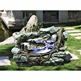 Water Fountain with LED Light – Staggered Rock Canyon Garden Decor Rock Fountain – Outdoor Water Feature Review