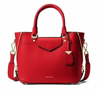 e6a8def3a494 ... where can i buy michael michael kors blakely leather satchel bright red  e87c4 d8abb