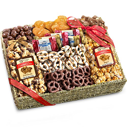 Golden State Fruit Chocolate Caramel and Crunch Grand Gift Basket