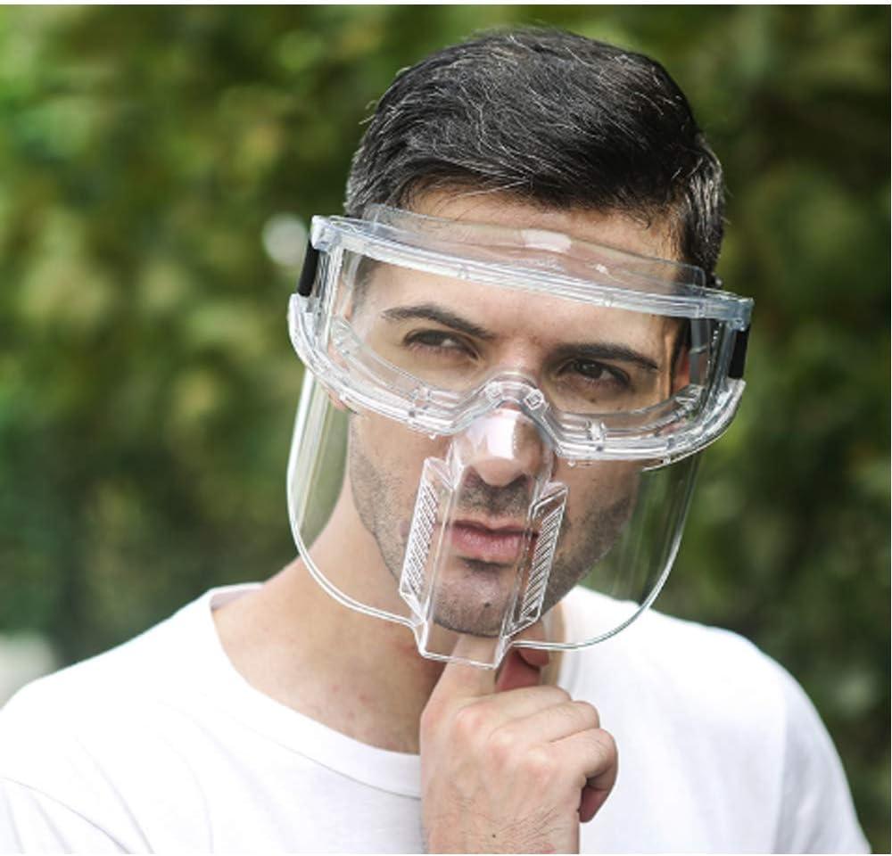 CSJD Protección para Toda la Cara, Prueba de Salpicaduras, a Prueba de Polvo, máscara Transparente de Cocina Protectora Resistente al Desgaste