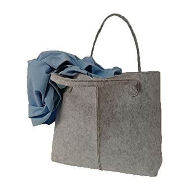 Amazon.com: Simplemente Fashion bolso de mano de fieltro ...