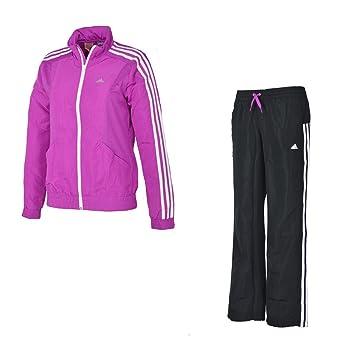 Adidas YG - Chándal para niña, color rosa y blanco rosa Talla:16 ...
