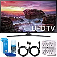 Samsung UN40MU6290 6-Series Flat 39.9 LED 4K UHD Smart TV w/Accessory Bundle includes TV, 6ft High Speed HDMI Cable x 2, Universal Screen Cleaner, and SurgePro 6 NT 750 Joule 6-Outlet Surge Adapter
