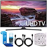 Samsung UN40MU6290 6-Series Flat 39.9'' LED 4K UHD Smart TV w/ Accessory Bundle includes TV, 6ft High Speed HDMI Cable x 2, Universal Screen Cleaner, and SurgePro 6 NT 750 Joule 6-Outlet Surge Adapter