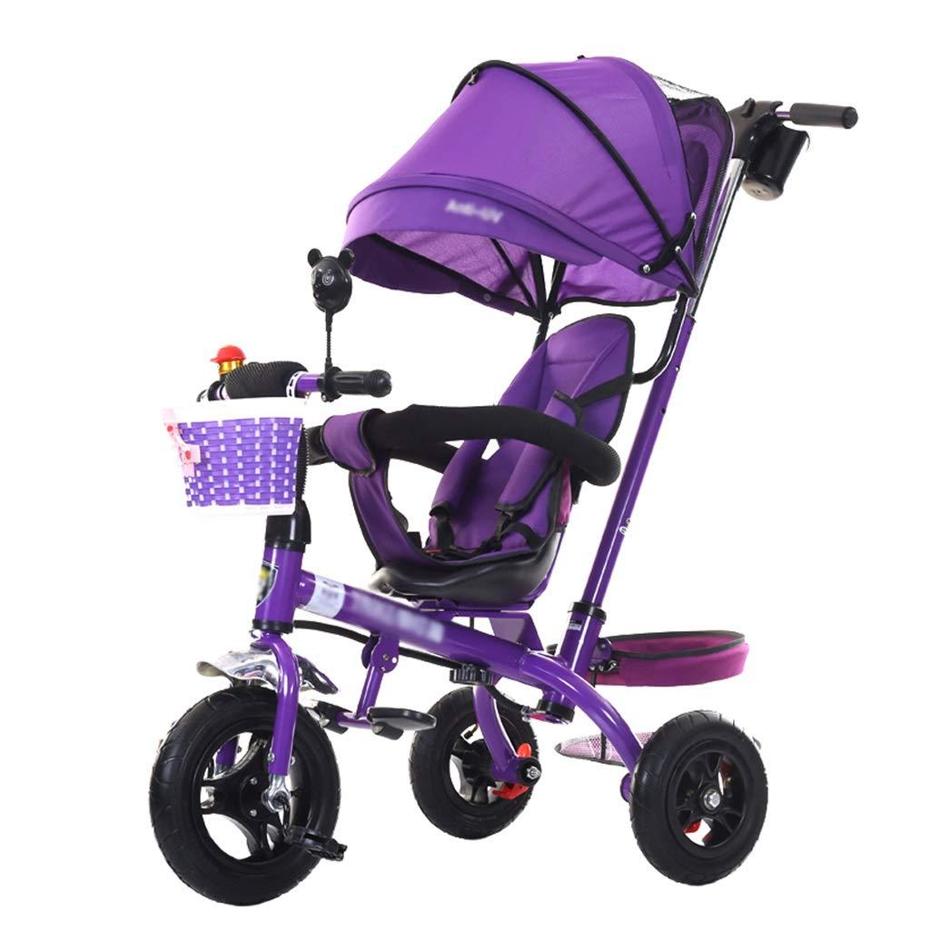 Cochecito de bebé Triciclo para niños de 1-6 años Carrito para niños Carrito para niños | Apoyabrazos Ajustable | Embrague | Arnés de Seguridad | Frenos ...