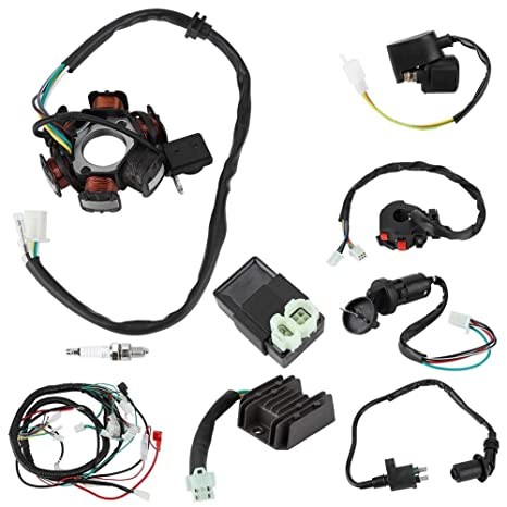 amazon com wiring harness electric wiring harness kit Engine Wiring Harness