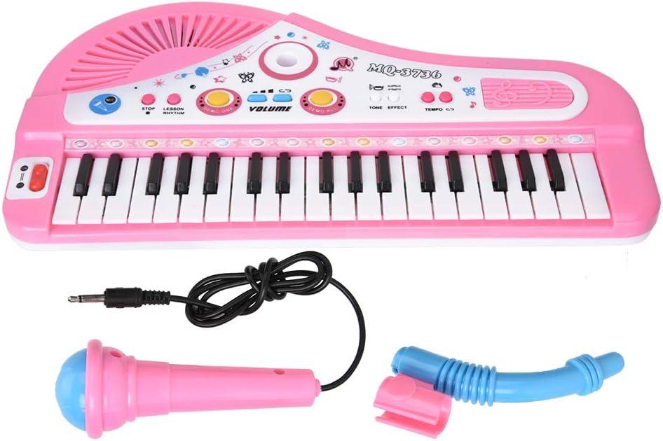 Liukouu Piano para niños, Piano con Teclado para niños, Piano Digital, Instrumentos Musicales de Juguete, para cumpleaños/Navidad de 3 años o más(Powder)