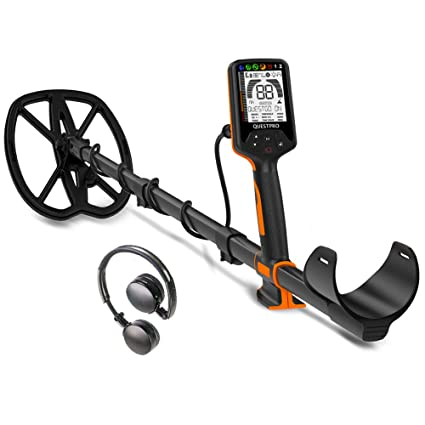 Amazon.com : Quest 1703.6 Pro Sports Pack Metal Detector, Black/Orange : Garden & Outdoor