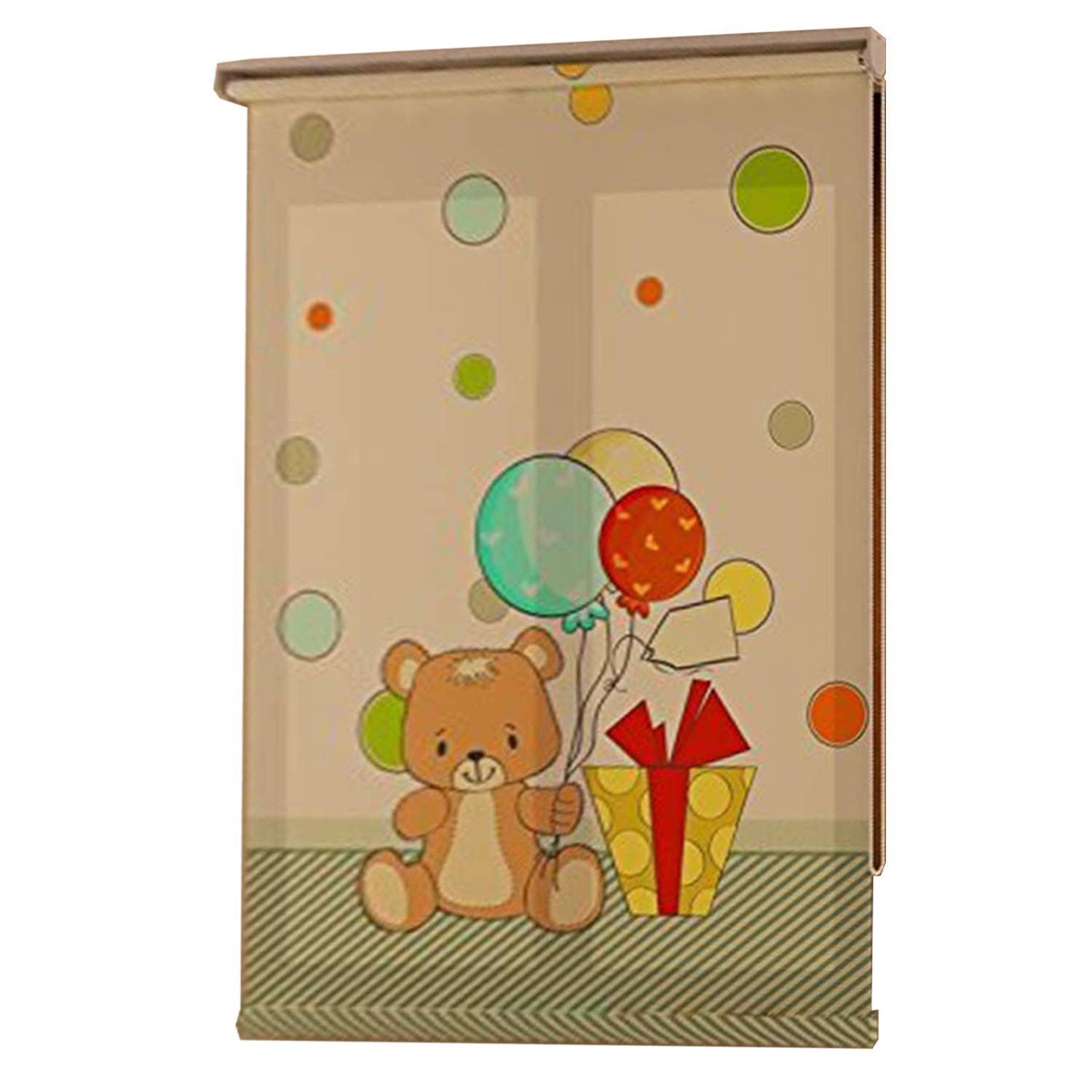 Room Darkening Window Roller Shades - Light Filtering, UV Protection, Rollup Blinds for Windows Cartoon Balloon Theme (36 x 72 inches) DCDIRECT