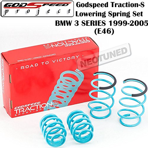 Godspeed (LS-TS-BW-0006) Traction-S Lowering Spring Set For BMW 3-Series E46 RWD (DOES NOT FIT XI MODELS) gsp set - Series Spring Lowering