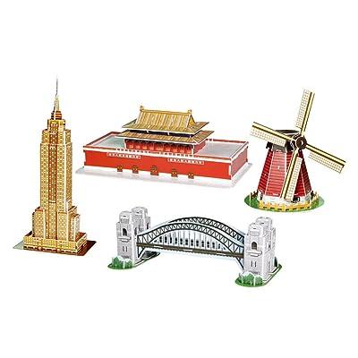 CubicFun C086H Mini Architecture Series #3 Puzzle: Toys & Games