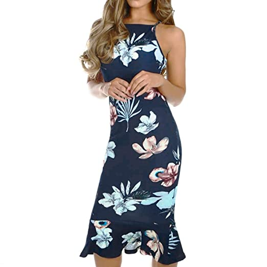 Atezch Ladies Off Shoulder Blooming Babe Floral Dip Hem Party Evening  Bodycon Midi Dress Plus Size ad6a550a9927