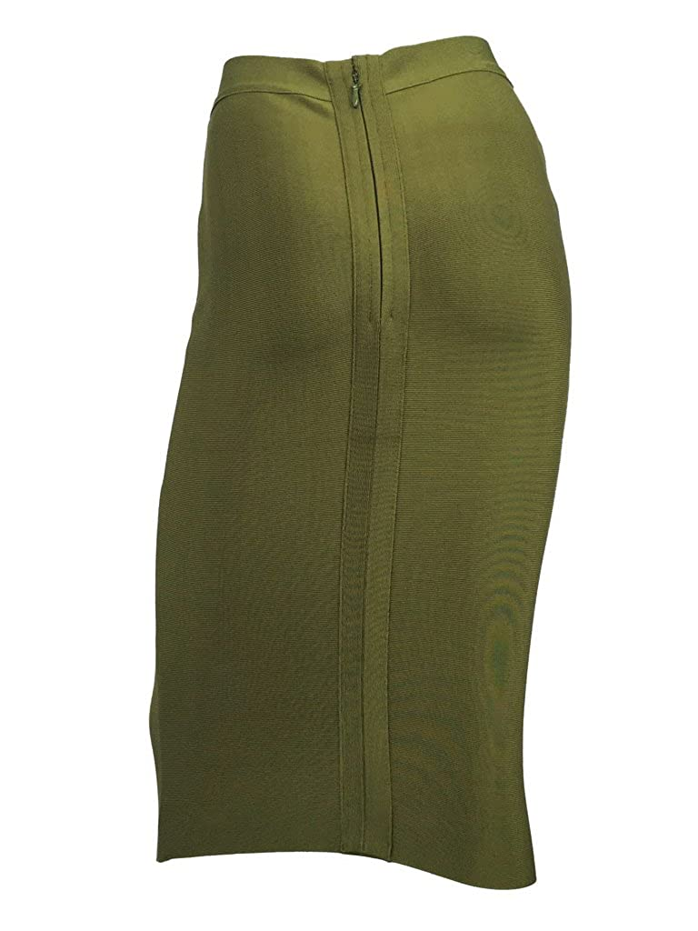 S Curve Womens Solid High Waist Bandage Bodycon Skirt FSK0001