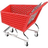 Hemoton Mini Supermarket Handcart Shopping Utility Cart Simulation Trolley Model Grocery Cart Storage Toy (Random Color)