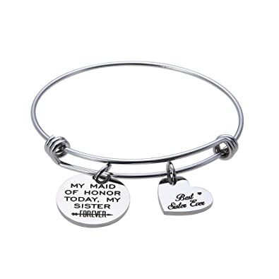 Amazon.com: jewelady Maid de honor pulsera ampliable pulsera ...