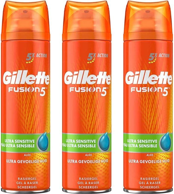 Gillette Fusion5 Ultra Gel de afeitar para pieles sensibles para ...