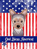 Caroline's Treasures BB2162GF God Bless American Flag with Yorkie Puppy Garden Flag, Small, Multicolor Review