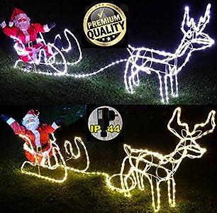 Weihnachtsbeleuchtung Rentier Beweglich.Cudek Led Products Xxl Led Magic Rentier Rentier Mit Schlitten