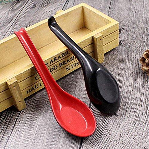 Melamin Plastiksuppenl/öffel Rot Schwarz Dinning Deep Tee Minkoll Suppenl/öffel