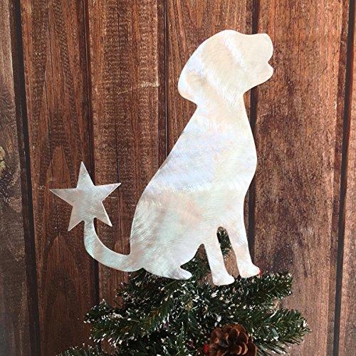 (PT Hudson Alumi-Art Labrador Retriever, Sitting Lab, Dog Christmas Tree)