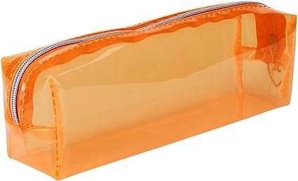 Covermason Caramelo Color Caja de lápices Transparente Estuches (naranja): Amazon.es: Oficina y papelería