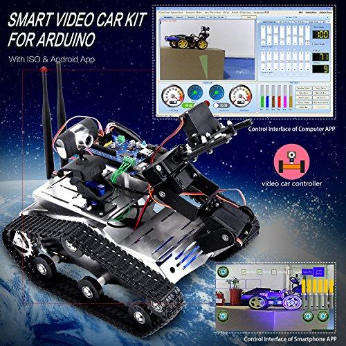 kuman Wireless Wifi manipulator Robot Car Kit With Video tutorial