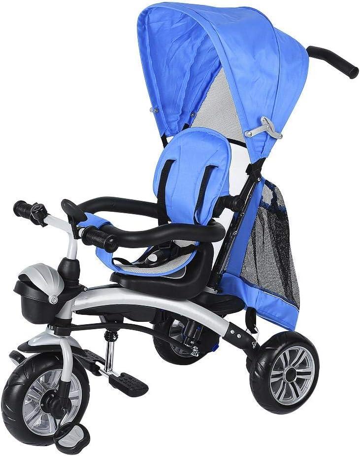 Lyrlody Tricycle pour enfant 100 x 80 x 47 cm bleu