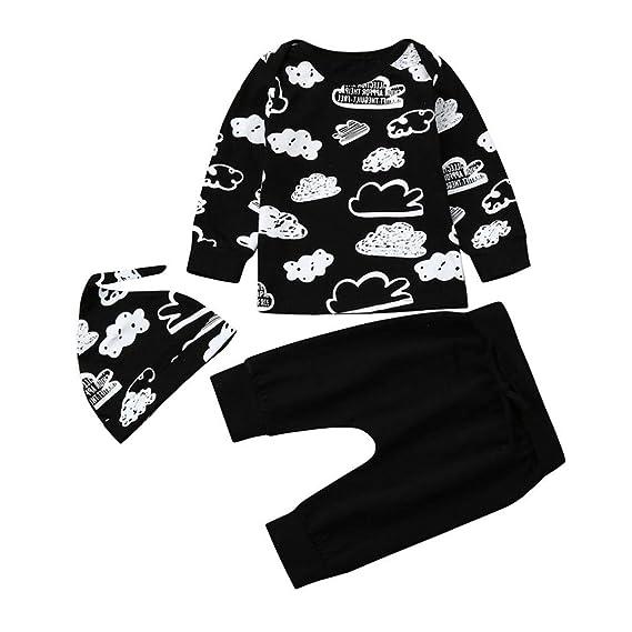 343888c196 Iuhan Newborn Infant Baby Girl Boy Cloud Print T Shirt Tops+Pants Outfits  Clothes Set