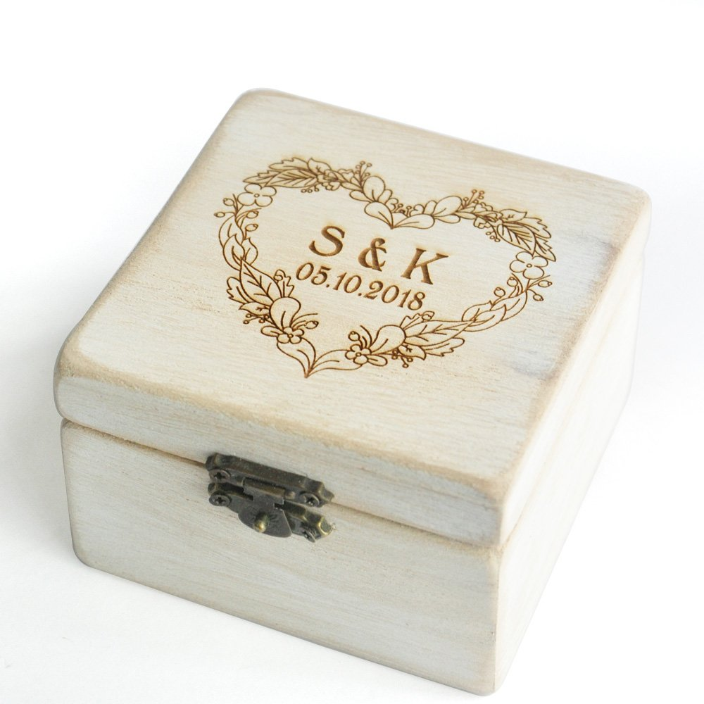 Custom Rustic Wedding Ring Box Holder Custom Wedding Ring Bearer Box Country Rustic Wedding weddinghanger2015 ringbox1111