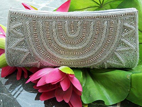 La Regale Beaded Handbag (White Beaded clutch bag bridal bag evening bag bridal clutch embroidered bag luxury womens handbag party purse handmade bag)