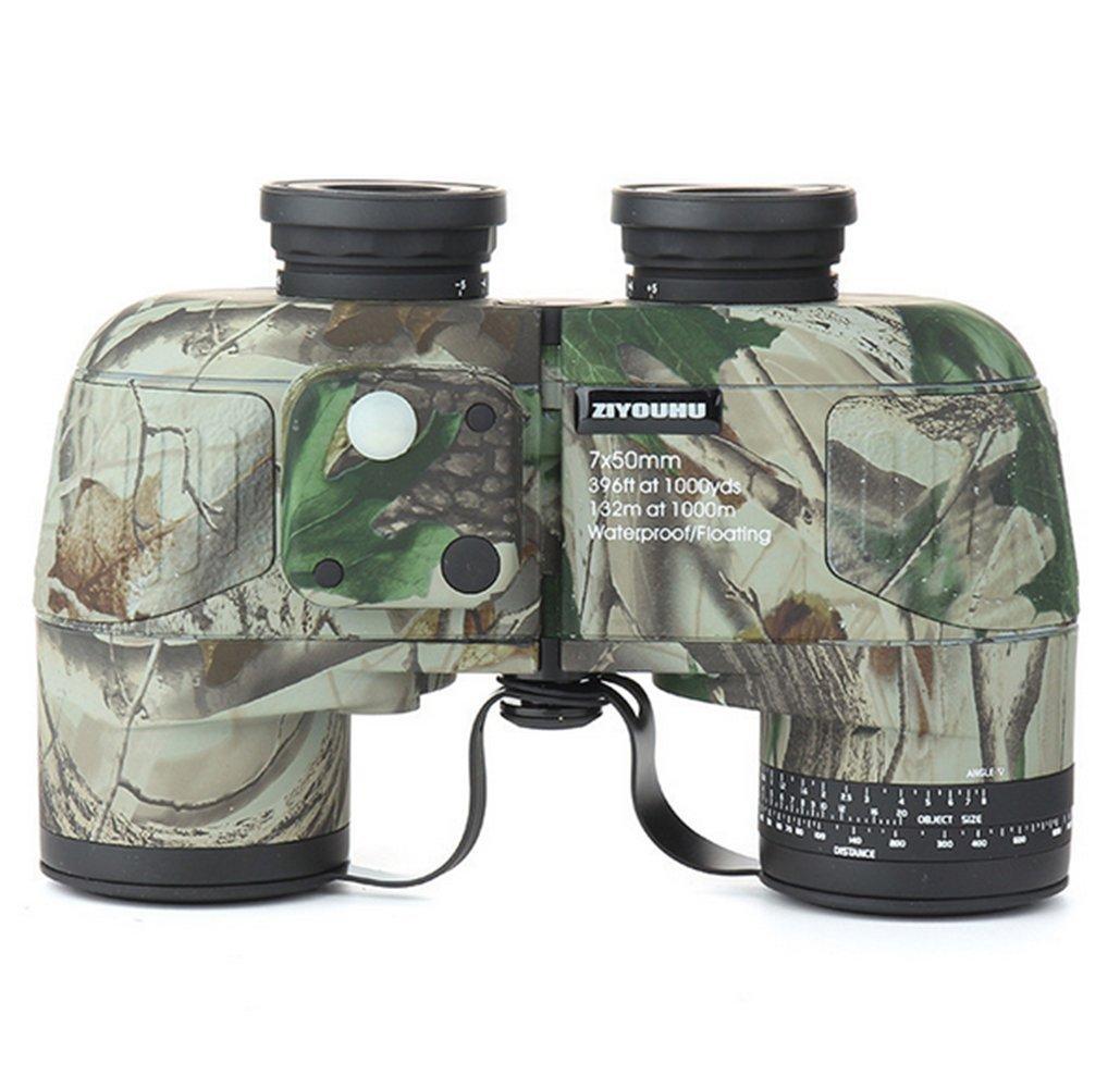 w & p 10 x 50 mm双眼鏡Concealment Pro Military範囲Finding Hunting bak4完全にコーティング132 /1000 m独立フォーカスキャンプ/ハイキング B07D2D99Q5 グリーン グリーン
