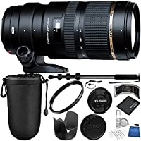 Tamron SP 70-200mm f/2.8 Di VC USD Zoom Lens for Nikon Bundle with Manufacturer Accessories & Accessory Kit (18 Items)