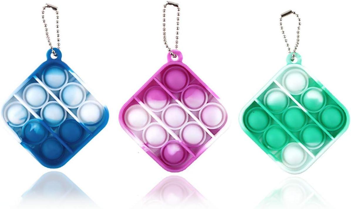 Push Pop Bubble Keychain Sensory Toys Portable Stress Relief Handheld Toys 2021 Simple Dimple Fidget Toy