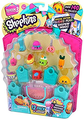 Shopkins Kids Season 3 Characters May Vary Playset, 12-Pack
