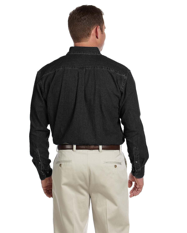 M550T Harriton mens Tall Short-Sleeve Denim Shirt