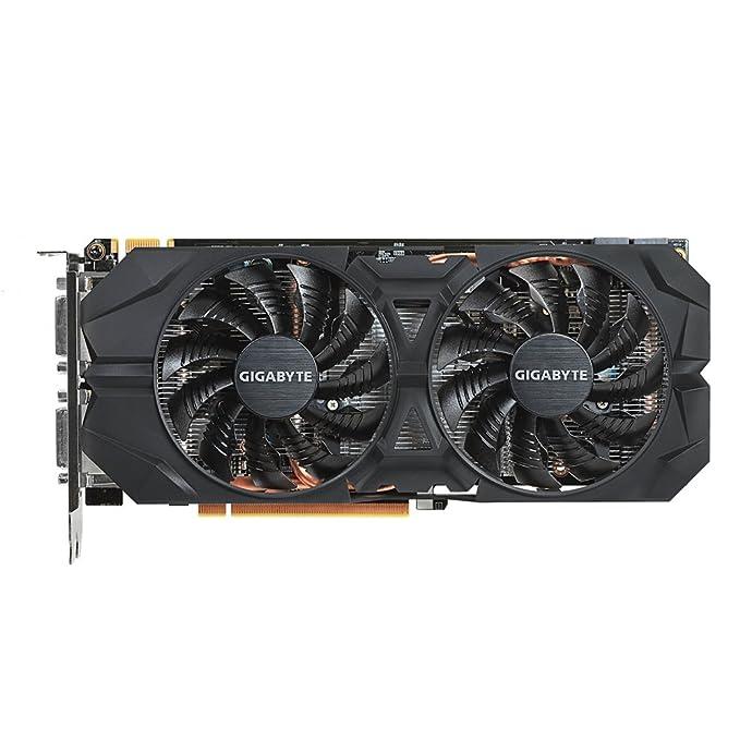 Gigabyte GeForce GTX 960 OC WindForce - Tarjeta gráfica (400 W, GeForce GTX 960 a 7 GHz, 4 GB de RAM), Negro