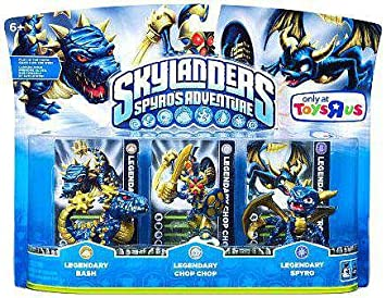 skylanders character adventure figures legendary bash legendary chop chop legendary spyro