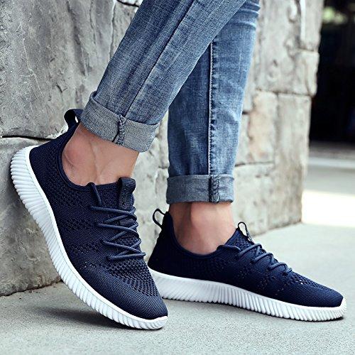 Hasag Zapatos Deportivos Zapatos de Malla de Malla Transpirable Zapatos Netos Ocasionales de Tela Blue A1