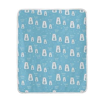 Amazon.com: Lambbd Lewissq Polar Bear Baby Blue Blanket All ...