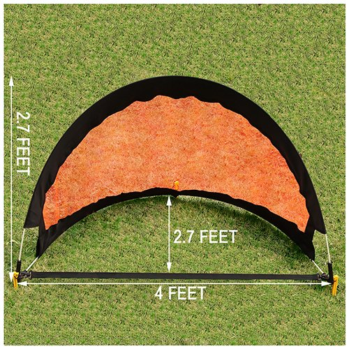 AMAREY SPORTS Soccer Goal - Pop Up Soccer Goal Kids Soccer Goal Kids Soccer Net, 4' Wide Set of 2 Soccer Goals, Portable Soccer Net with Carry Bag, Soccer Training Net for Quick Play