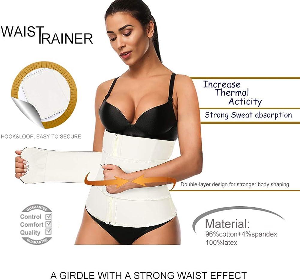 FeelinGirl 9 Aceros Deshuesados L/átex Cors/é de Entrenamiento Transpirable para Mujer Faja Lumbar
