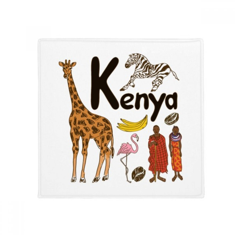 DIYthinker Kenya National Symbol Landmark Pattern Anti-Slip Floor Pet Mat Square Home Kitchen Door 80Cm Gift