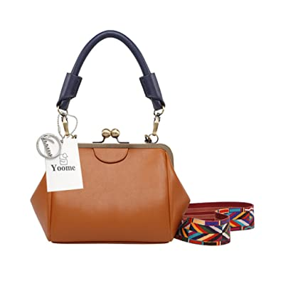 892f4c97815f Image Unavailable. Image not available for. Color  Yoome Retro Doctor Bag  Rivets Belt New Chic Elegant Boho Bags For Women Crossbody Ladies Handbags