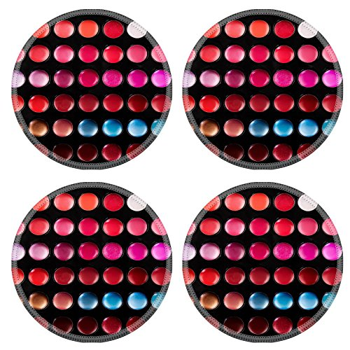 Luxlady Natural Rubber Round Coasters IMAGE ID: 25289495 Close up shot of lip gloss palette soft focus