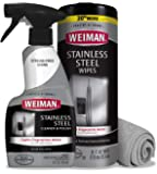 Weiman Stainless Steel Cleaner Kit - Fingerprint Resistant, Removes Residue, Water Marks and Grease from Appliances…