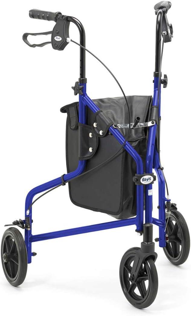 Patterson Medical - Andador ligero de tres ruedas, color azul