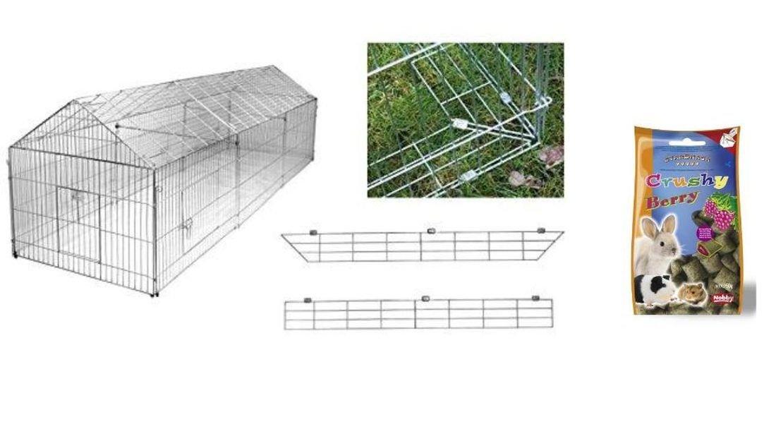 freilaufgehege mit ausbruchsperre 330 x 103 x 103 cm freigehege f r kaninchen hasen h hner. Black Bedroom Furniture Sets. Home Design Ideas