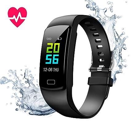Montre Connectée Cardiofréquencemètre Bracelet Connecté Podomètre GPS Fitness Tracker dActivité Tension Artérielle Smartwatch Sport Femme Homme ...