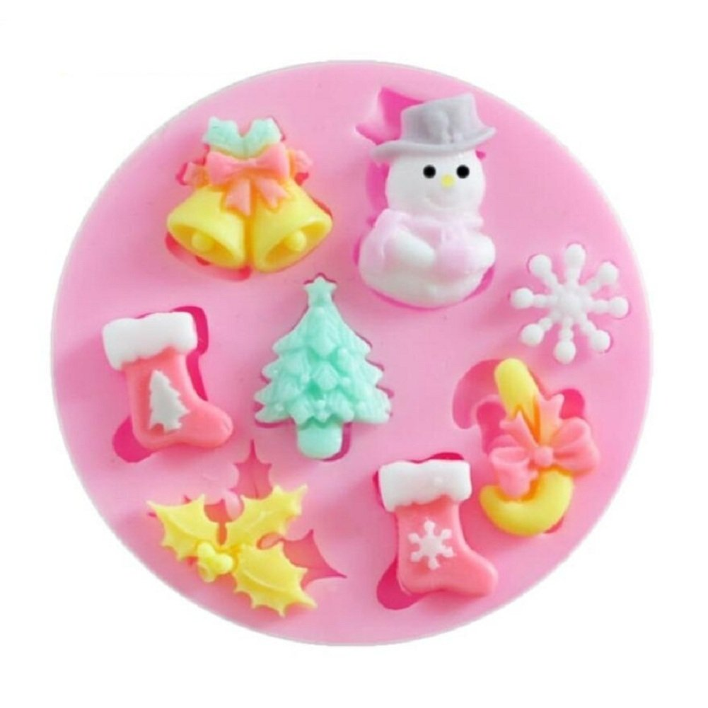 Cheap4uk Silicone Fondant Mould Ice Cube Chocolate Cake Cupcake Soap Molds Chocolate Baking Sugarcraft Decorating Tools(Bear)