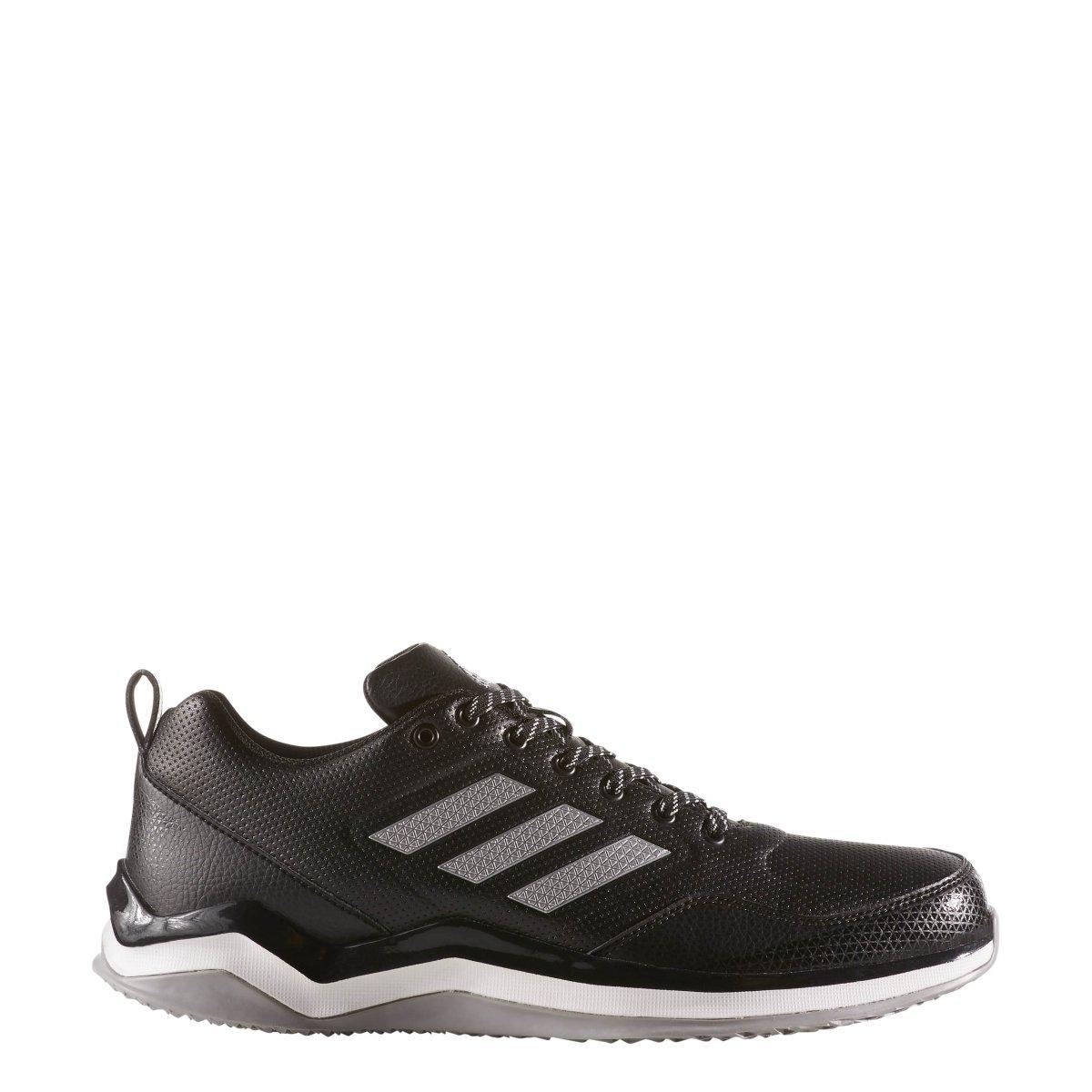 adidas Men's Freak X Carbon Mid Cross Trainer, Black/Metallic Silver/White, 8.5 Medium US